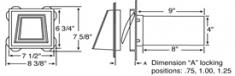Вентиляционная отдушина с обратным клапаном, 102 мм, код 03 0804,   цвет 001,030